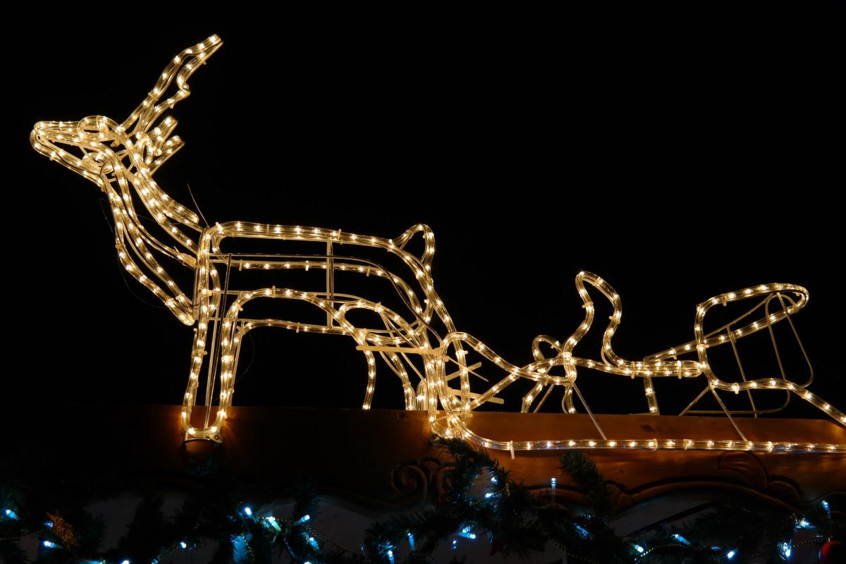 gambar hari natal santa dekorasi natal rusa kutub meluncur nicholas lichterkette lampu. Black Bedroom Furniture Sets. Home Design Ideas