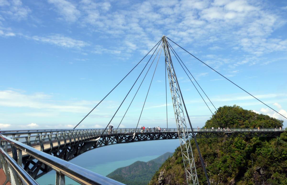images gratuites pont suspendu malaisie langkawi pont. Black Bedroom Furniture Sets. Home Design Ideas