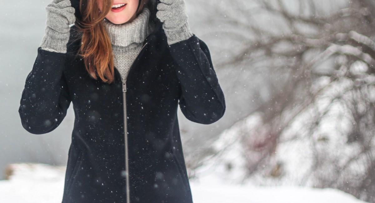 Картинки девушки зимой без лица