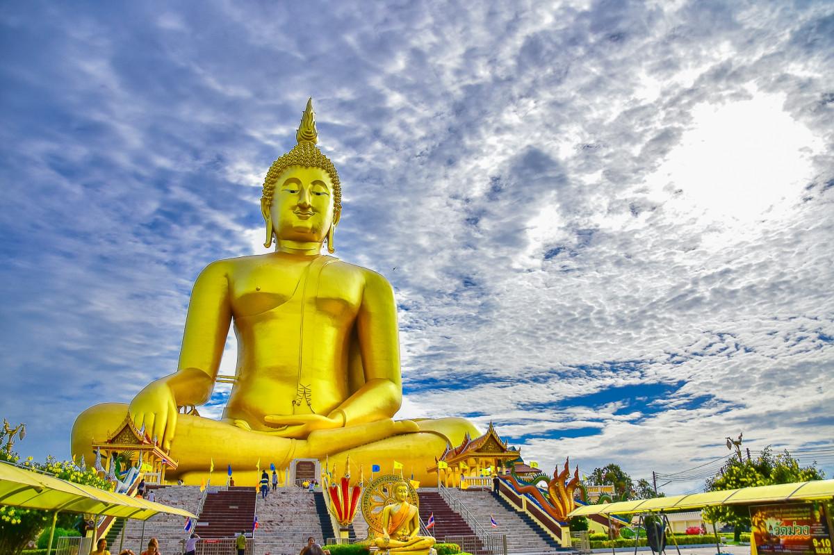 monument statue landmark place of worship temple wat buddha statue ang thong wat muang gautama buddha