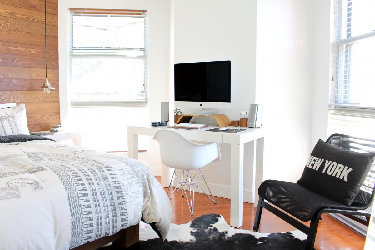 Free Images : desk, chair, floor, home, cottage, loft, property ...
