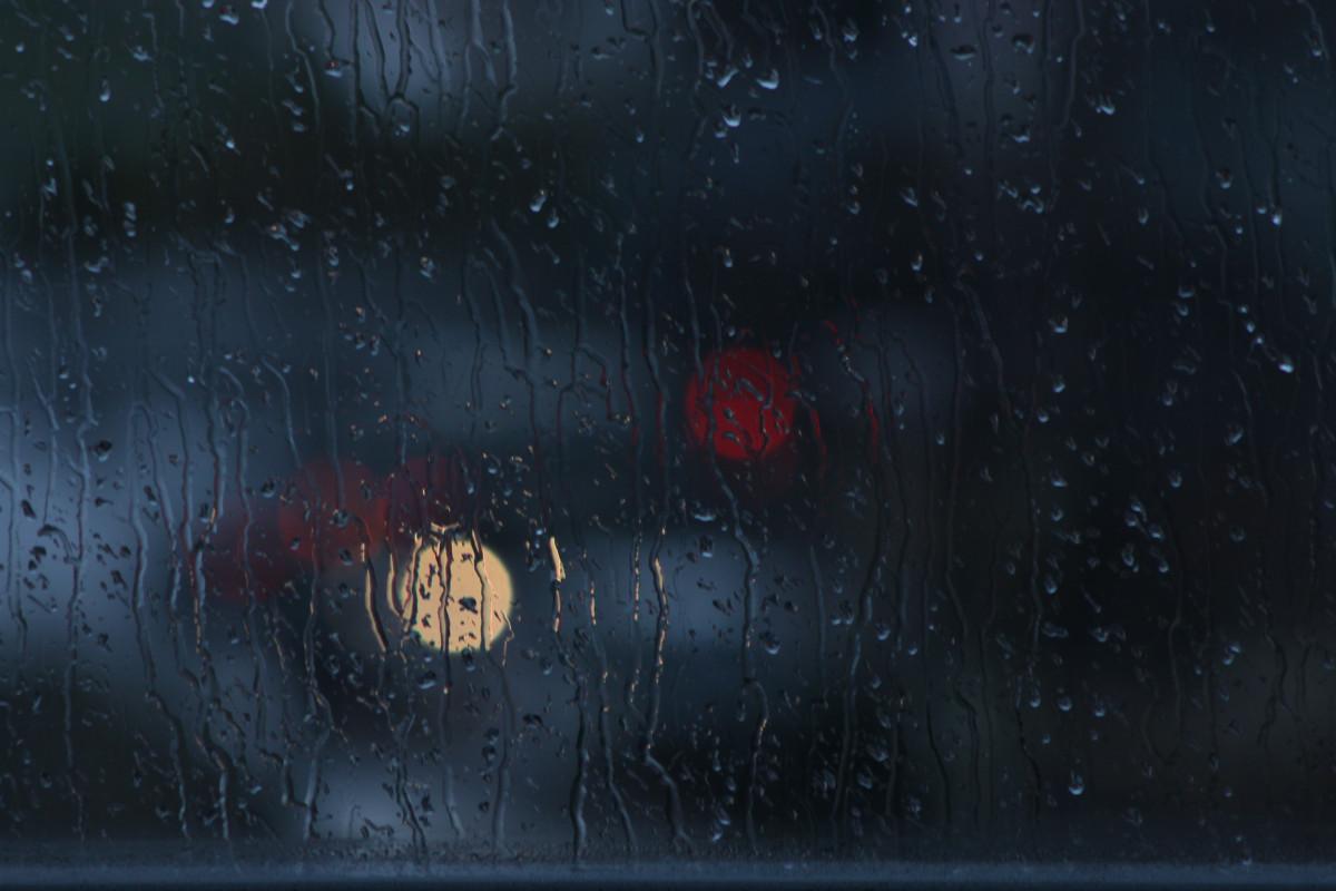 Gambar Salju Bokeh Tekstur Hujan Jendela Kaca Suasana
