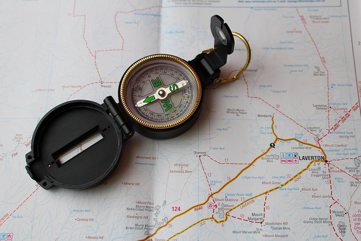 boussole jauge carte cercle des lunettes la navigation organe Australie occidentale