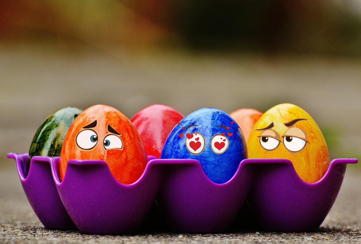 Poze : alimente, culoare, dovleac, albastru, colorat, ou, ochi, artă,  amuzant, Paști, oua de Paste, macro fotografie, Paste Fericit 2783x1883 - -  818615 - Poze frumoase - PxHere