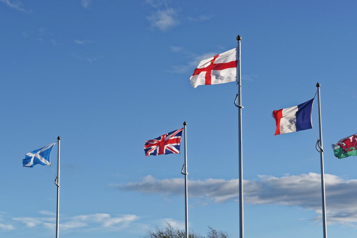 free images blue flagpole uk union jack britain flag of the