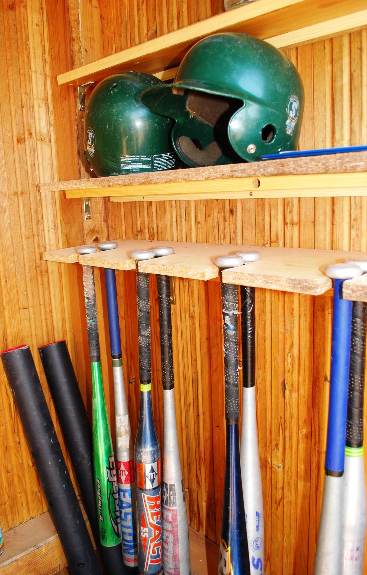 Wood Baseball Sport Game Recreation Equipment Shelf Furniture Art Sports  Helmet Ball Bat Games Baseball Bat