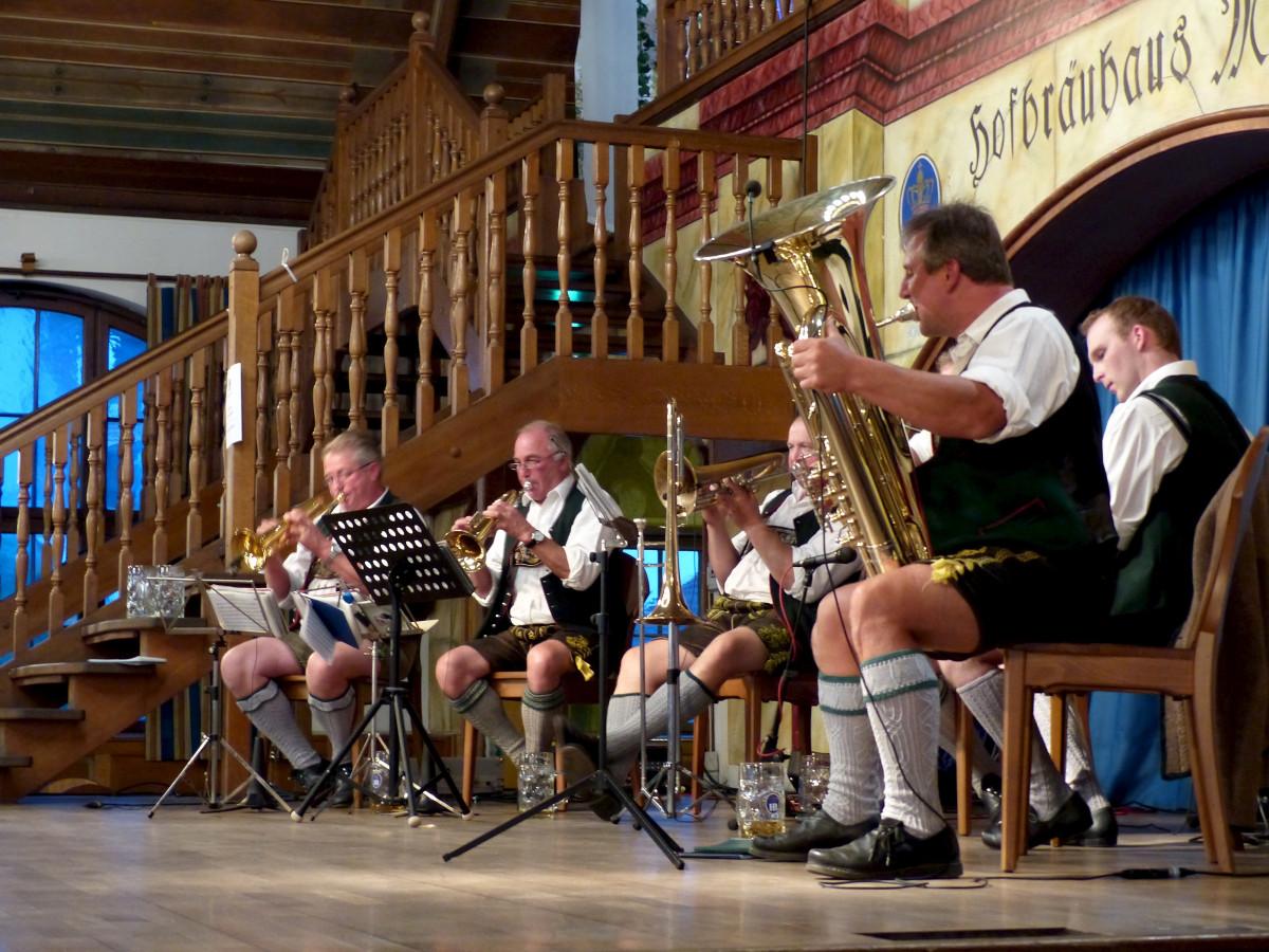 Image of a brass band at Oktoberfest