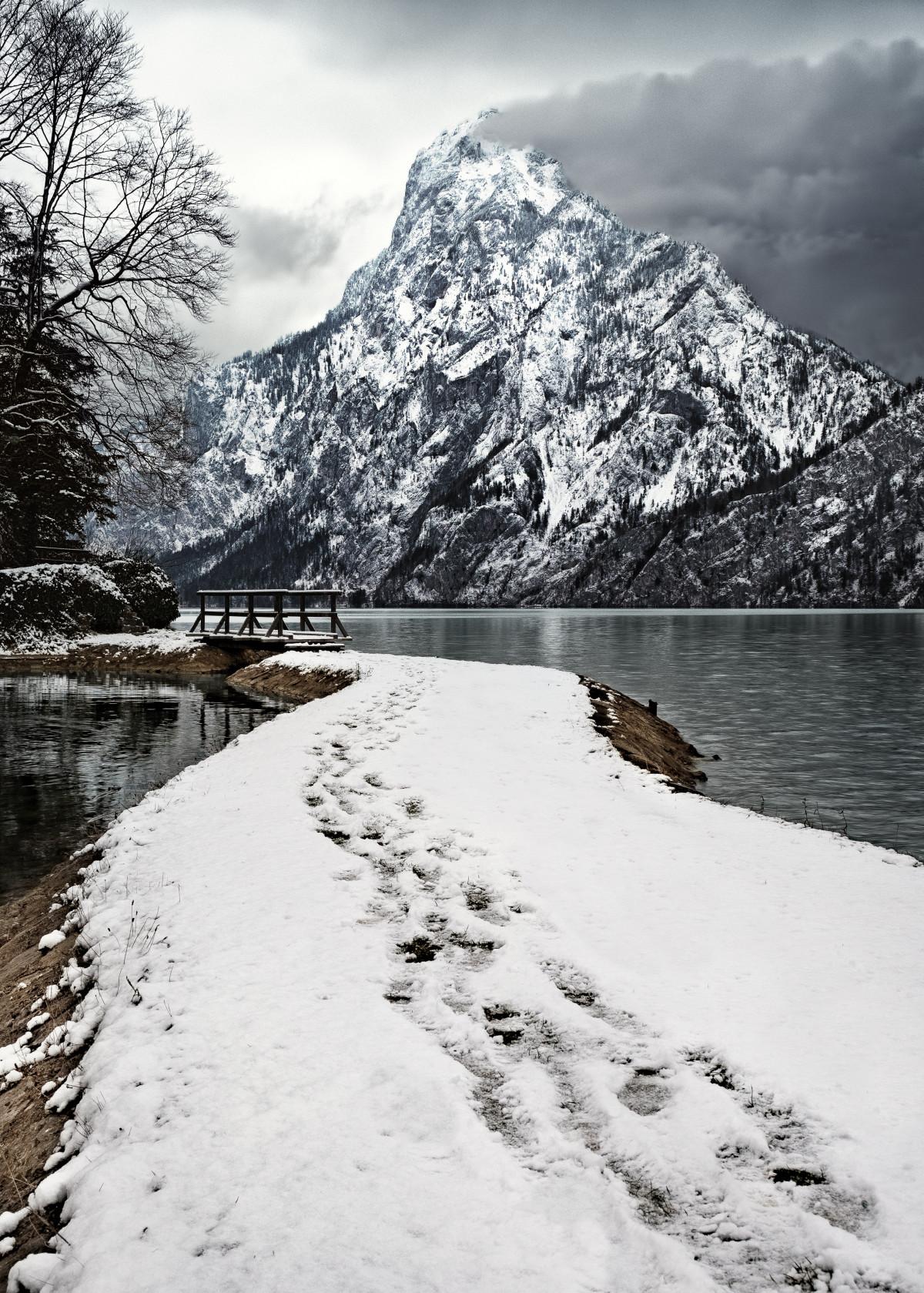 Gambar : pemandangan, gunung, salju, musim dingin, danau ...