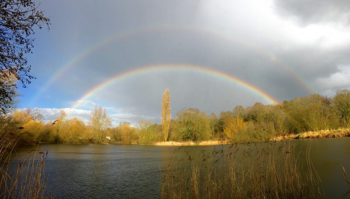 Осенняя радуга фото стихи скрывала