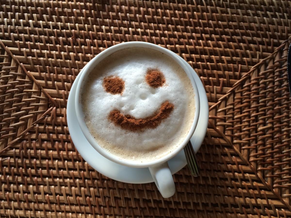 Цветы для, картинка чашечка кофе с улыбкой