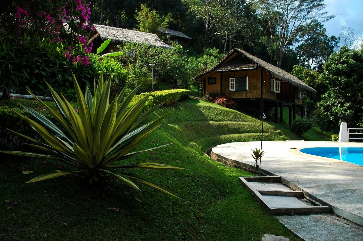 Free images landscape water grass plant lawn villa for Giardini moderni