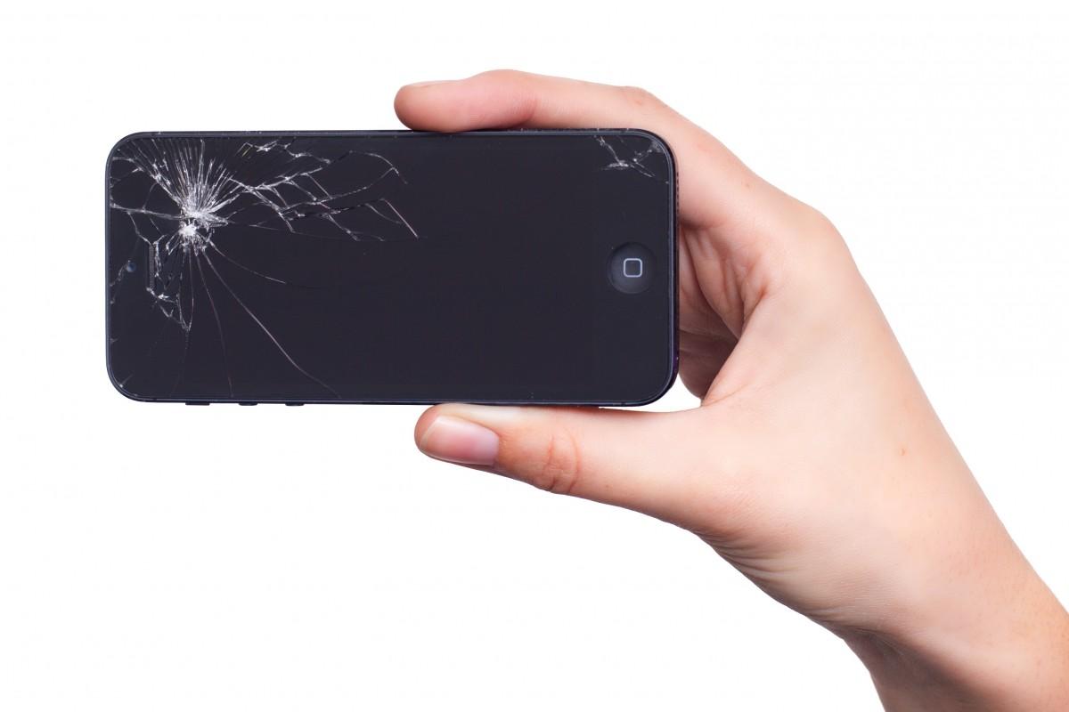 Iphone téléphone intelligent main écran Pomme La technologie cassé gadget téléphone portable afficher dommage multimédia écran tactile appareil électronique Appareil de communication portable