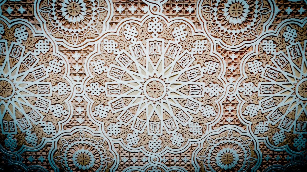 Kostenlose foto stock mauer dekoration muster linie geometrisch geometrie keramik - Tapete orientalisch blau ...