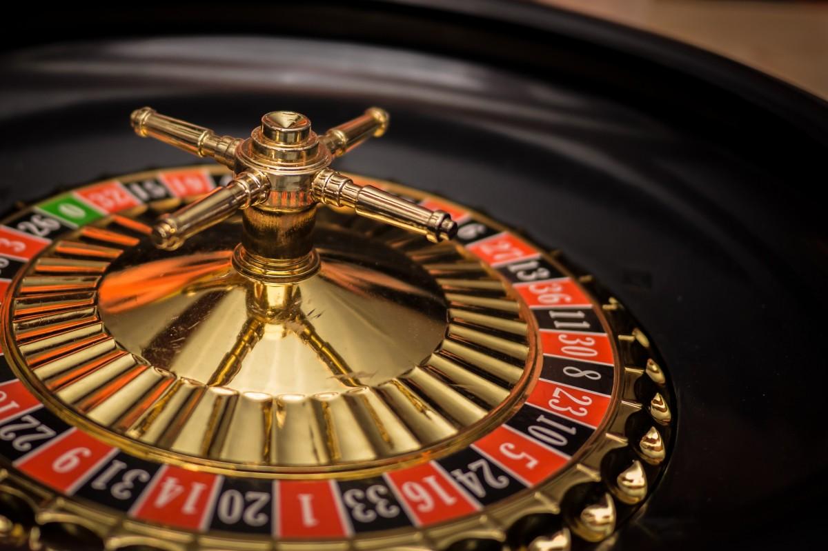 Een roulettewiel van dichtbij bekeken