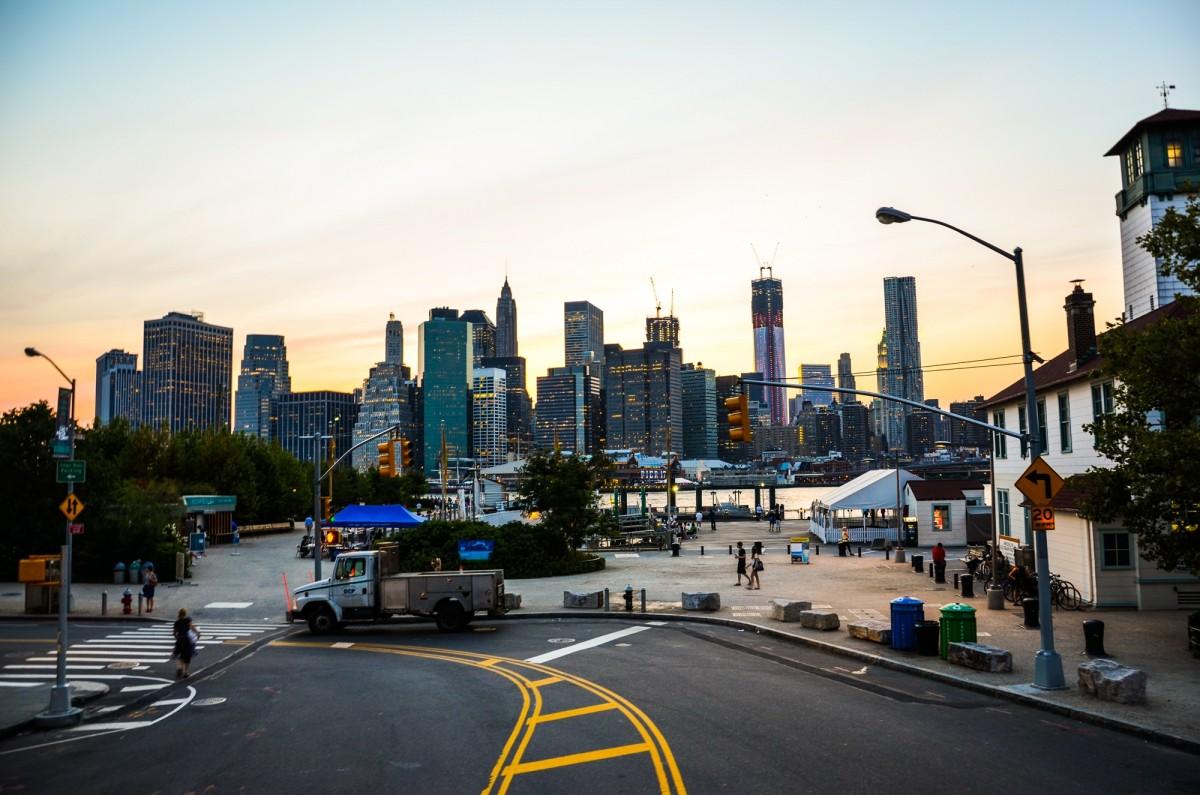 Images gratuites le coucher du soleil route horizon - Coucher du soleil new york ...