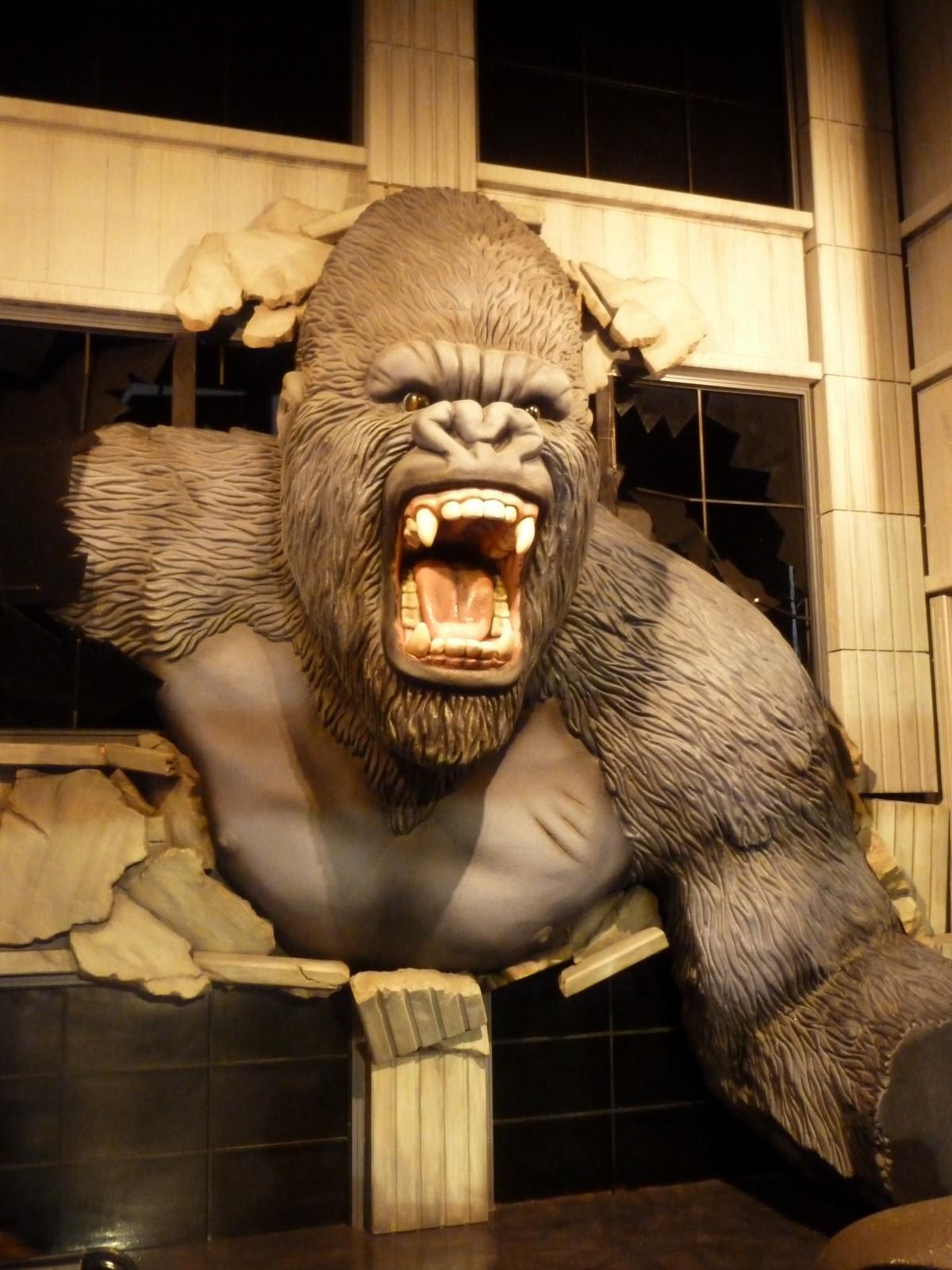 Free Images Adventure Statue Primate Gorilla