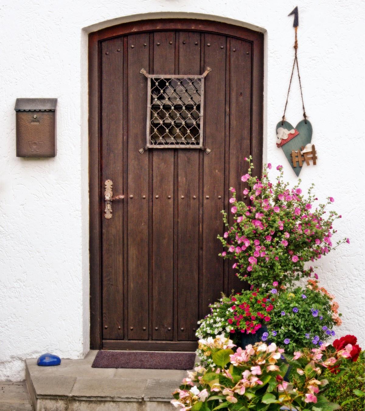 Wood Window Old Arch Cottage Romantic Door Front Door Wooden Door Input  House Entrance Historically Old