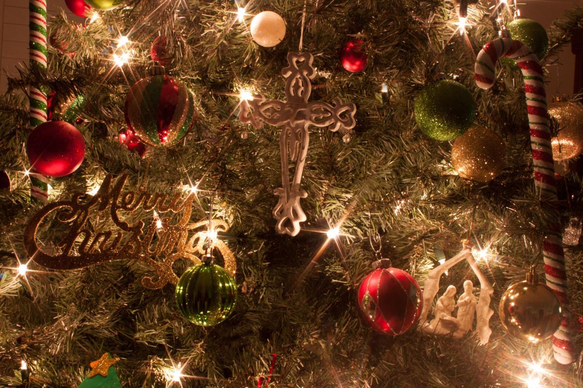 Free Images : celebration, holiday, cross, decor, christmas tree ...