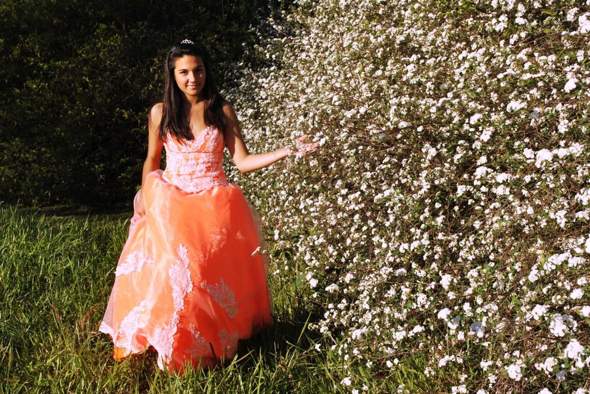 Kostenlose foto : Orange, Frühling, Mode, Fotoshooting, Ballkleid ...