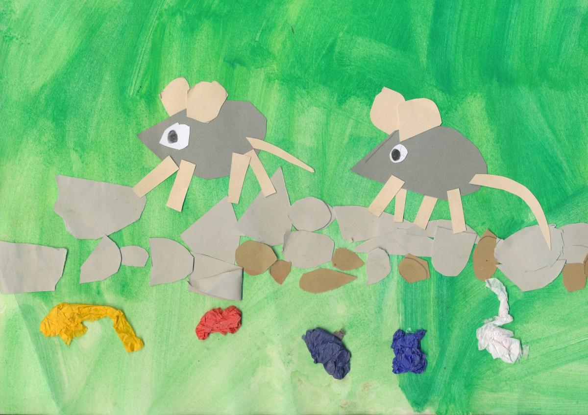Blume, Grün, Mode, Nagetiere, Kunst, Zeichnung, Illustration, Kindergarten, Bild, Mäuse, basteln, Kinder Bild, Kinder Zeichnung, Kindkunst, Bastelnarbeit, Frederik