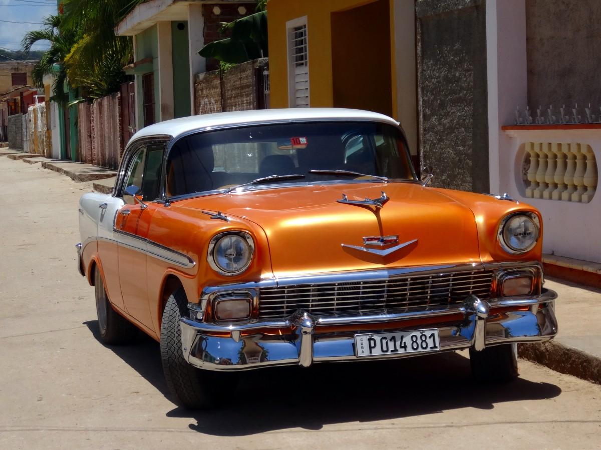 Free Images : retro, orange, vintage car, cuba, sedan ...