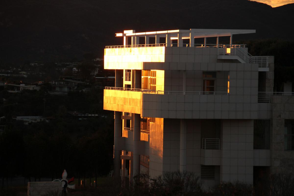 Light Structure Sunset Night Building Evening Museum Darkness Exterior  Lighting California Design Los Angeles Getty Center