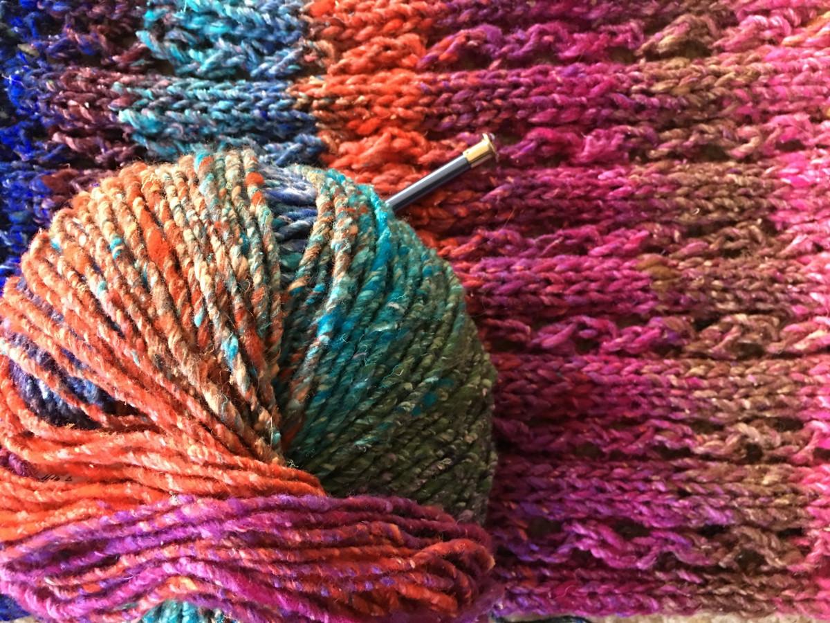 color knit yarn wool material thread knitting textile art silk noro obi