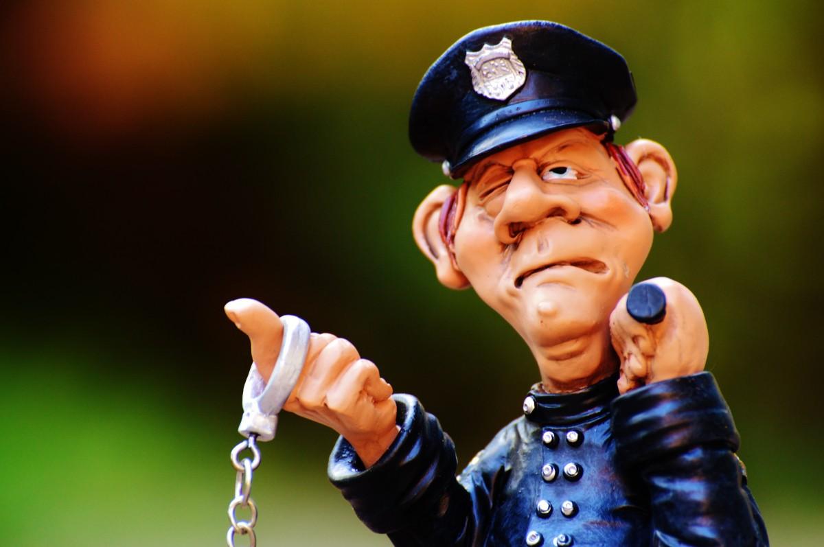 Корзинке открытка, смешная картинка полиции