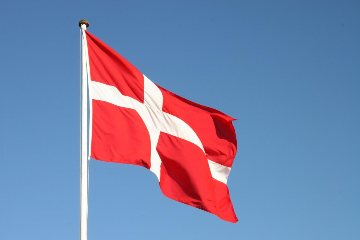 himmel, rød, flag, Danmark, rødt flag, dansk, flag USA, Dannebrog