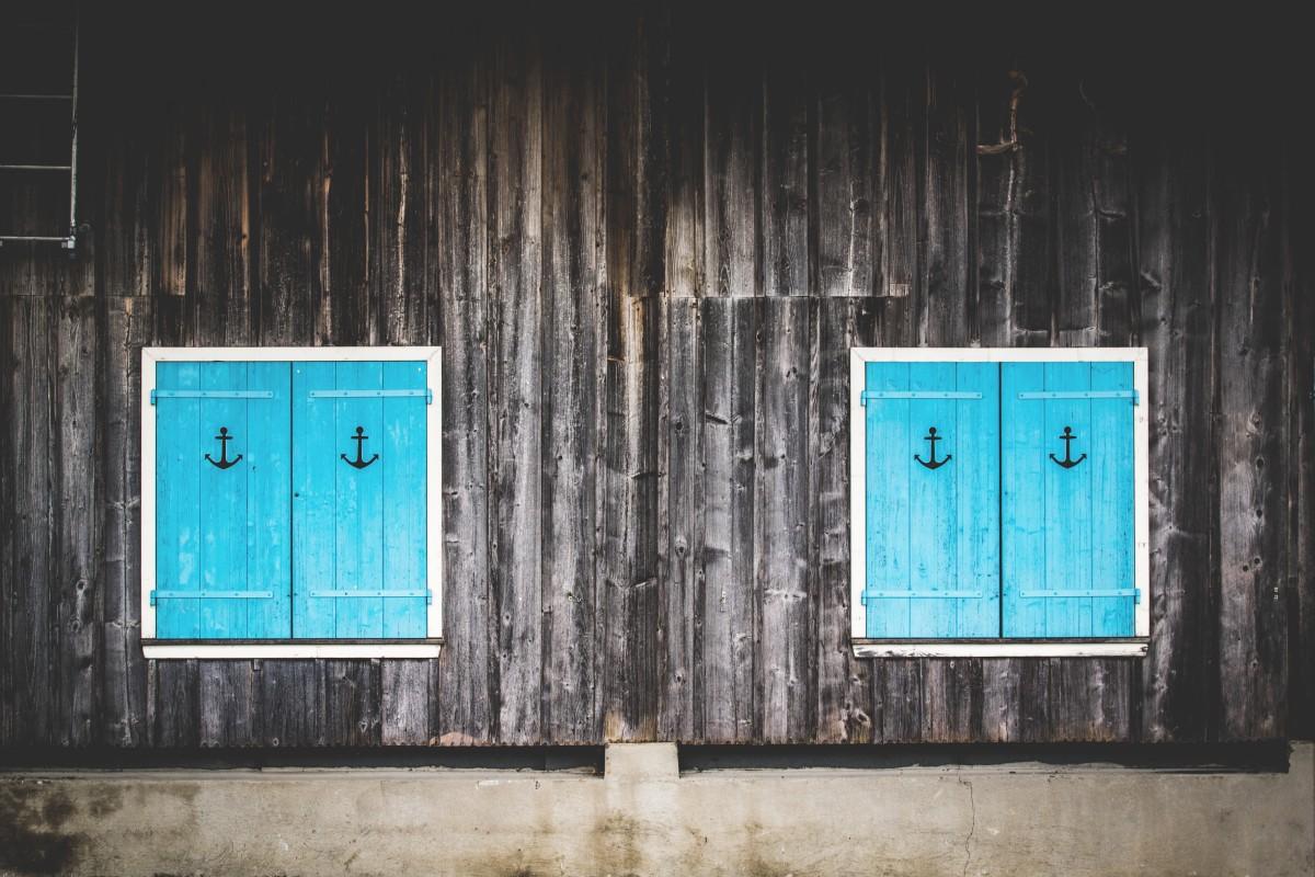 무료 이미지 : 집, 창문, 외양간, 벽, 녹색, 색깔, 푸른, 셔터 ...