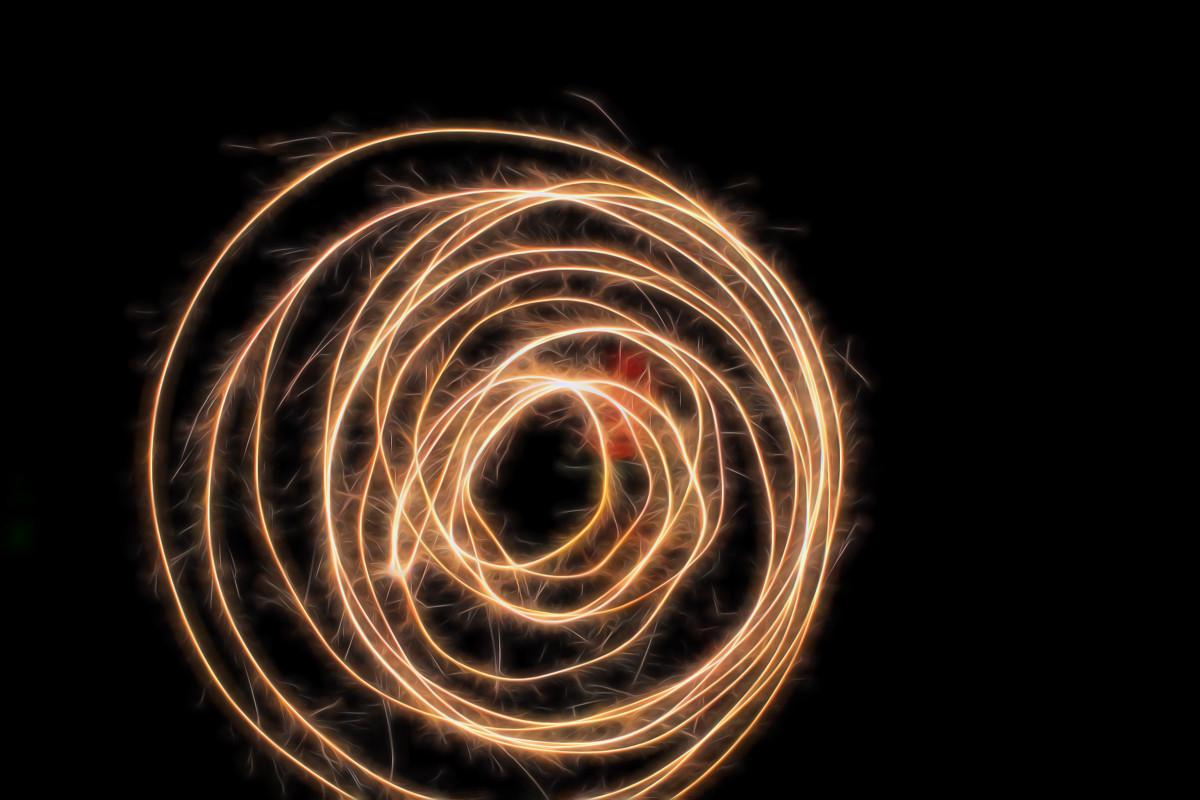 Free Images : writing, night, spiral, sparkler, dance ...