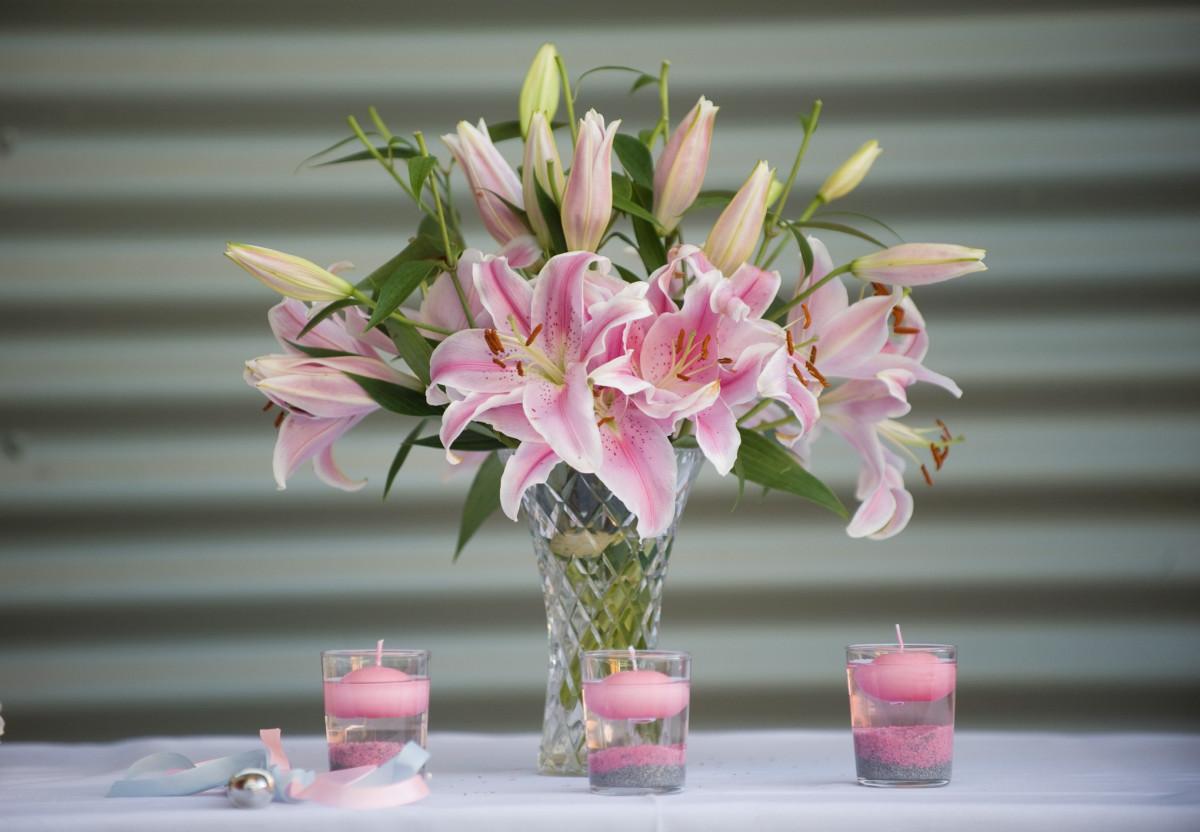 Картинки цветы лилии розовые букеты