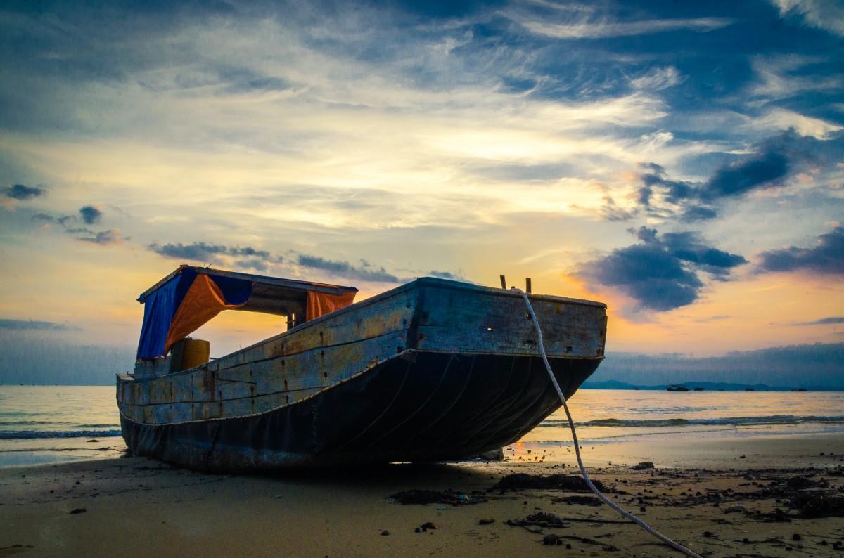 sunset sailing boats rocks - photo #13