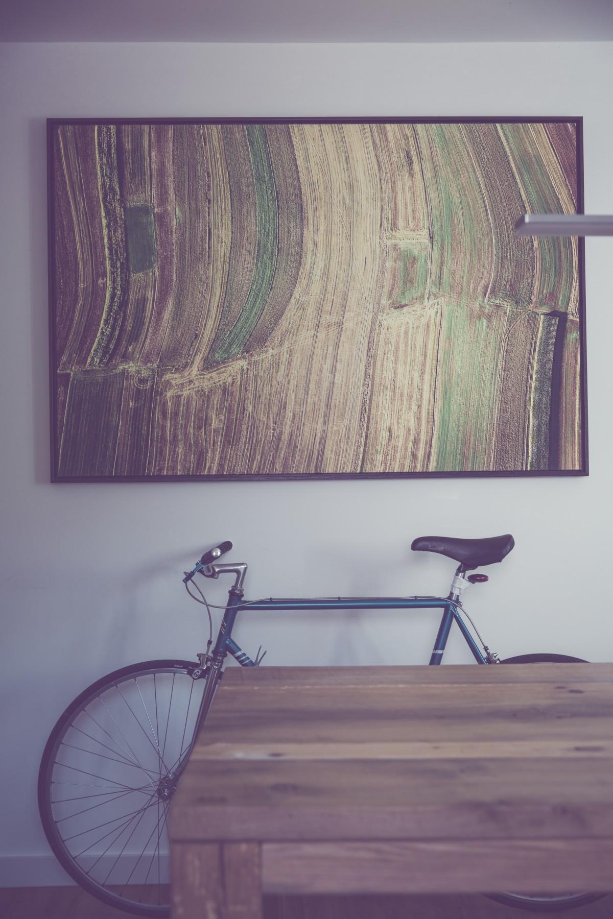 Amazing Table, Wood, Bicycle, Bike, Wall, Vehicle