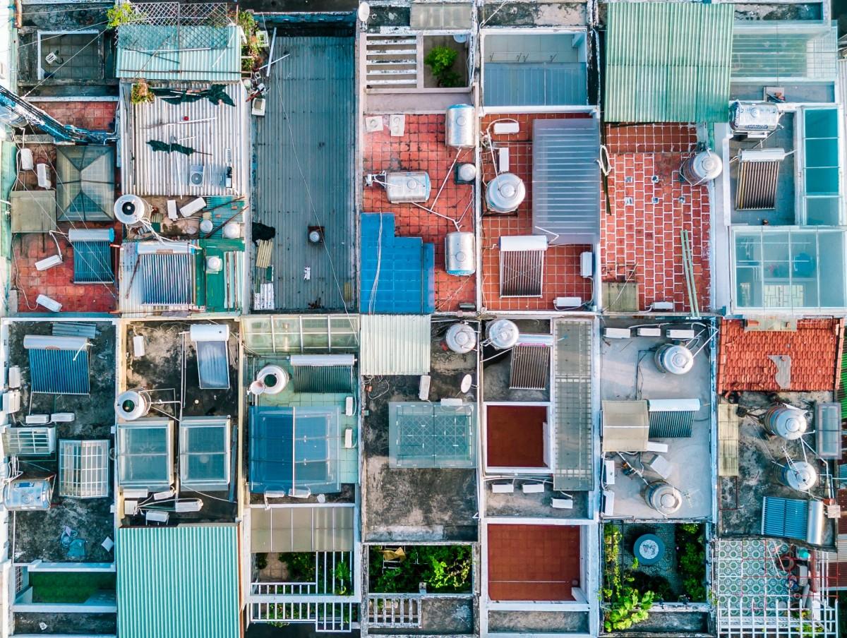 Gambar Seni Kolase Lingkungan Daerah Perkotaan Daerah