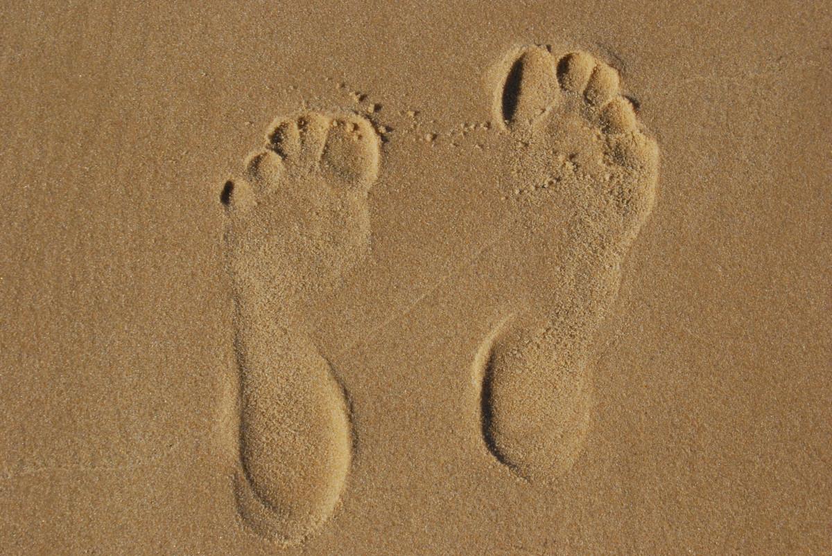 его картинка песок отпечатки профиля