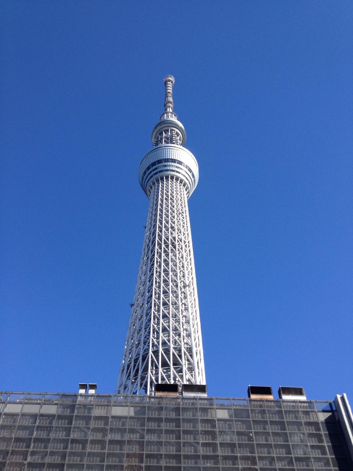 スカイライン 見る 超高層ビル 旅行 タワー ランドマーク 青 メトロポリタン 日本 高層ビル 東京 管制塔 東京スカイツリー