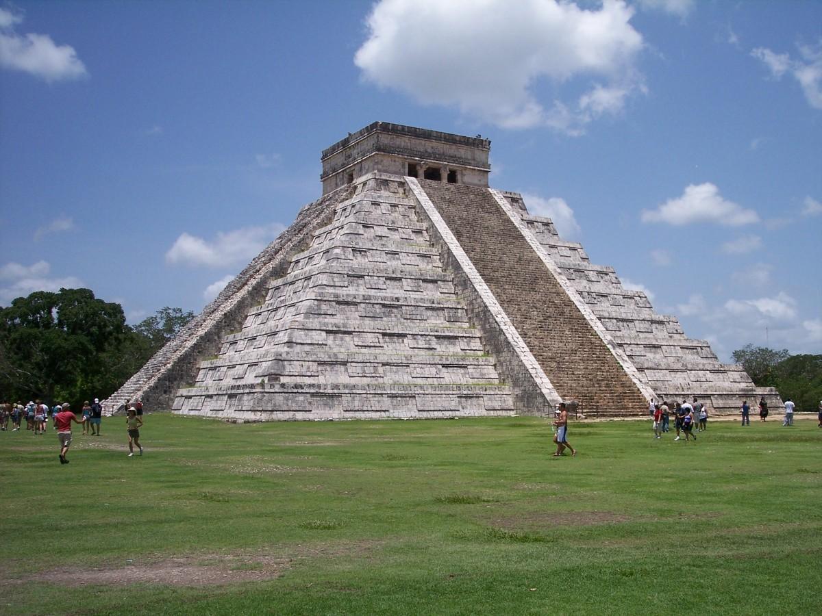 stone, monument, pyramid, ancient, landmark, ruin