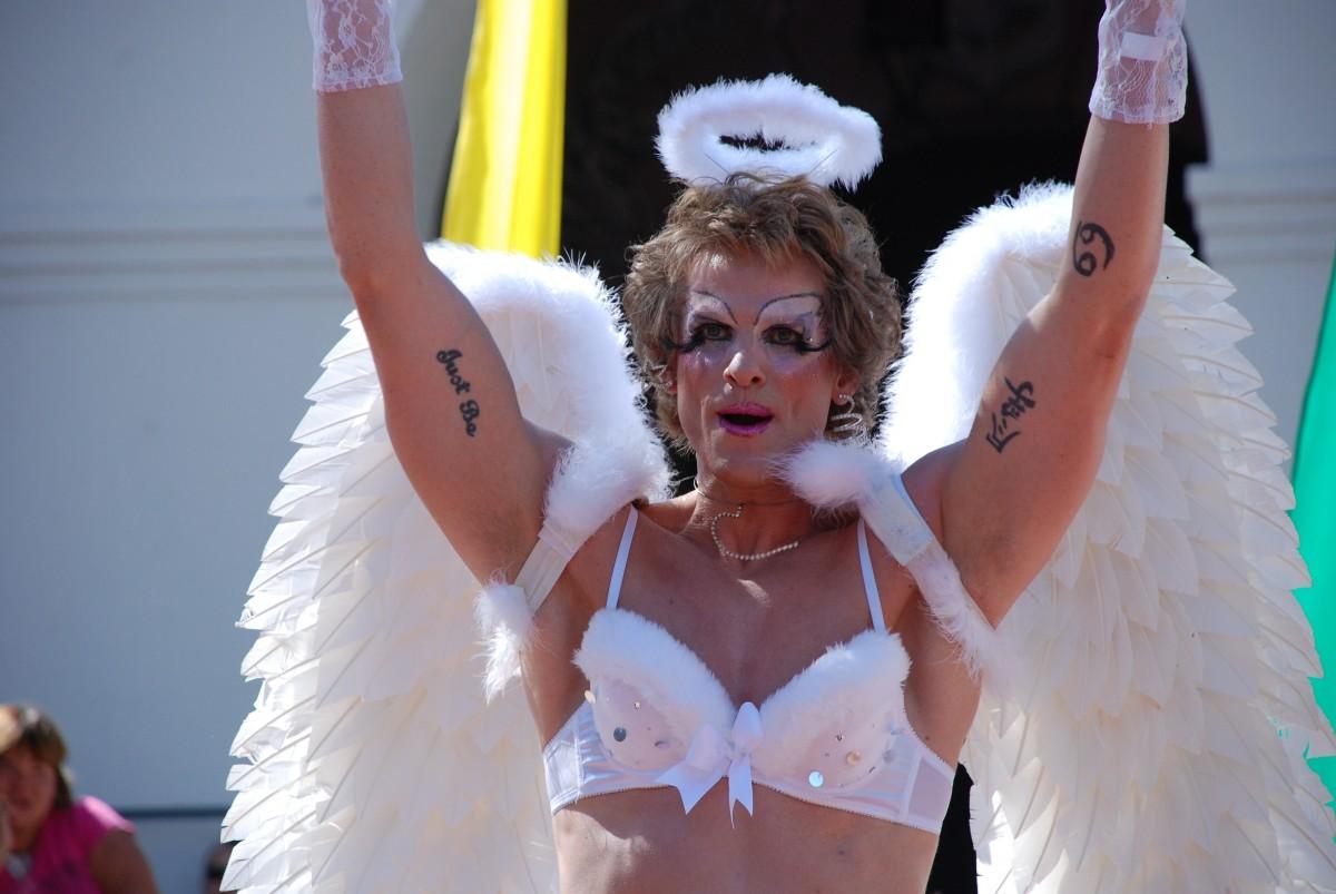 clothing lady angel costume gay lgbt san luis obispo cross dresser