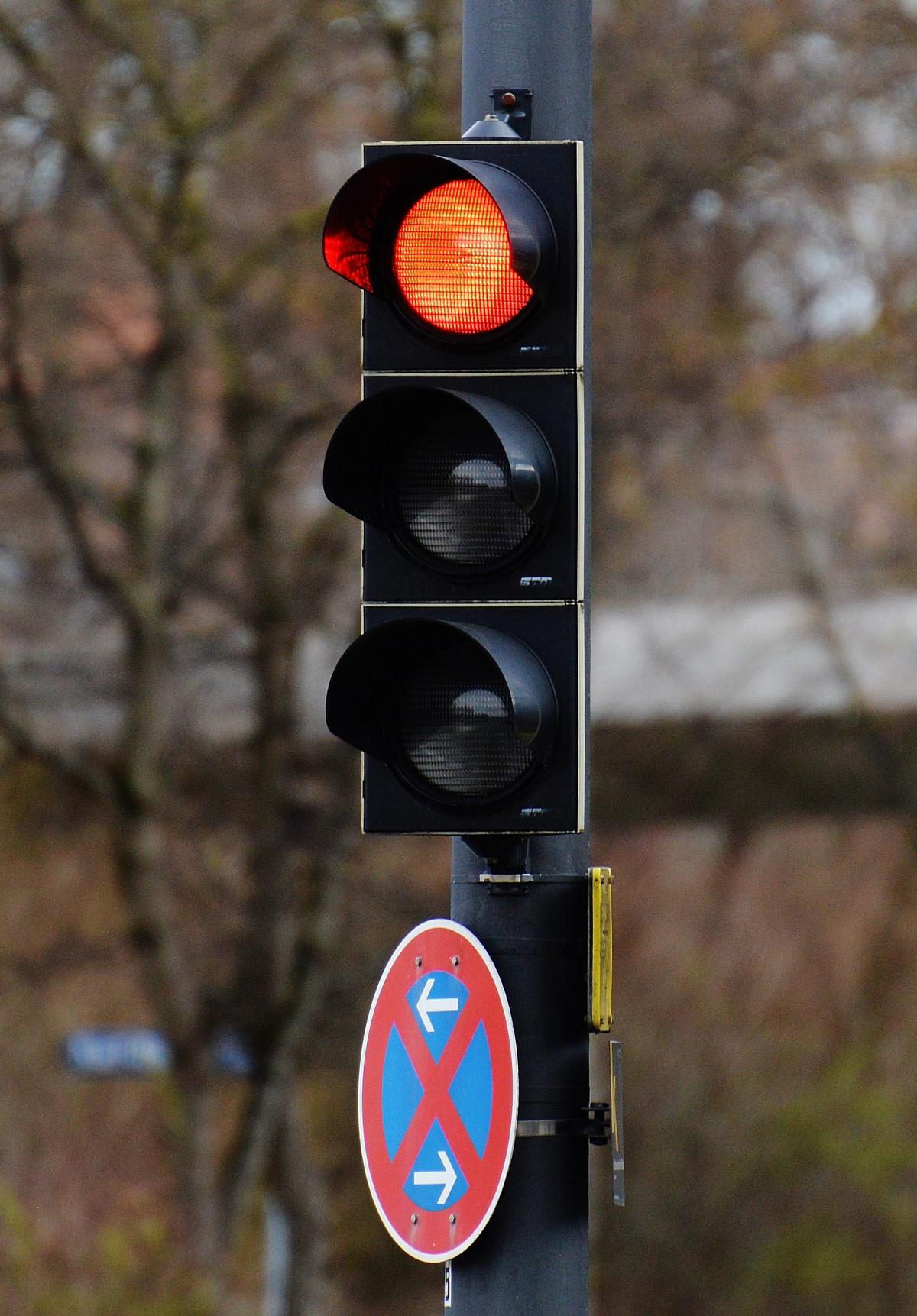 光, 道路, 符号, 赤, ビーコン, 街路灯