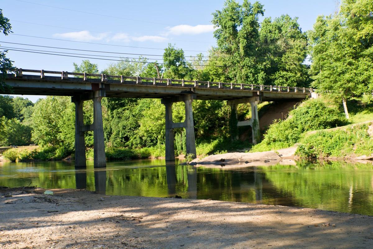 Картинки реки под мостом