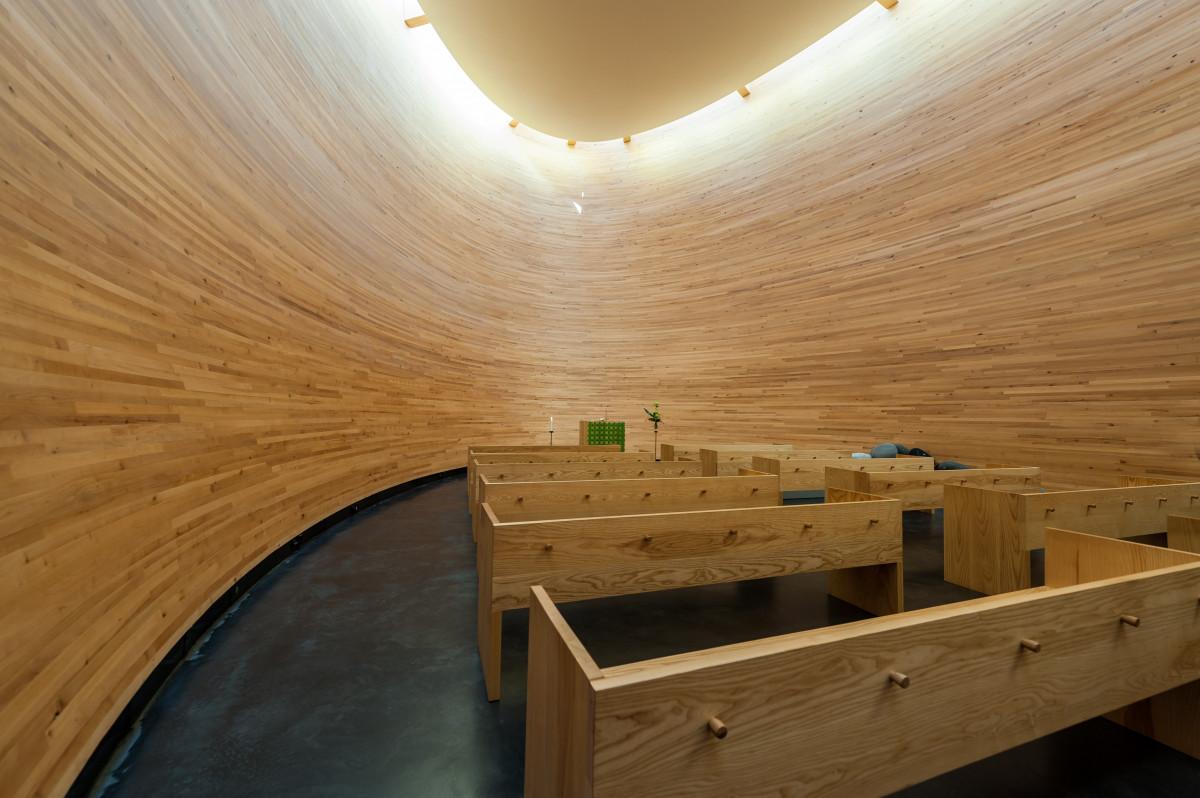 Architecture Wood Floor Interior Beam Ceiling Church Furniture Room  Lighting Design Helsinki Plywood Man Made Object