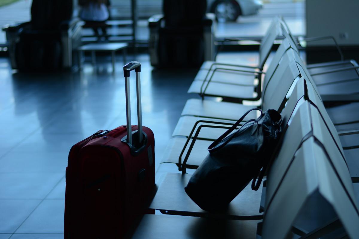el maletero aeropuerto turista viajar carretilla esperando viajero bolso negocio habitación turismo internacional gira salida diseño terminal embarque maleta viaje captura de pantalla