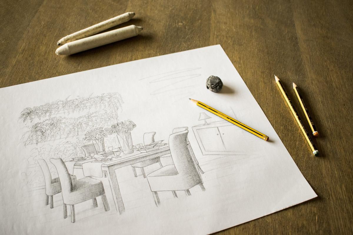 Рисунок на бумаге карандашом