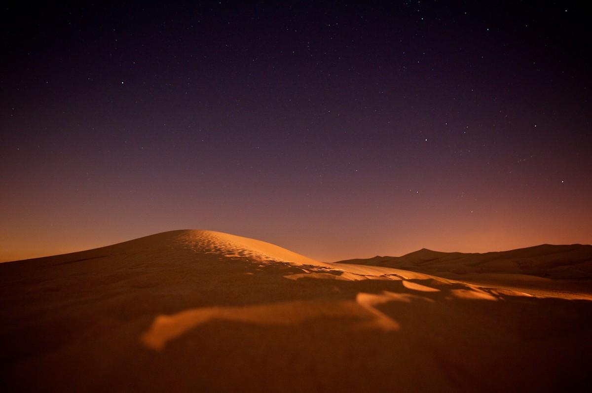 free images   landscape  sand  horizon  night  star  desert  dune  dawn  atmosphere  dusk