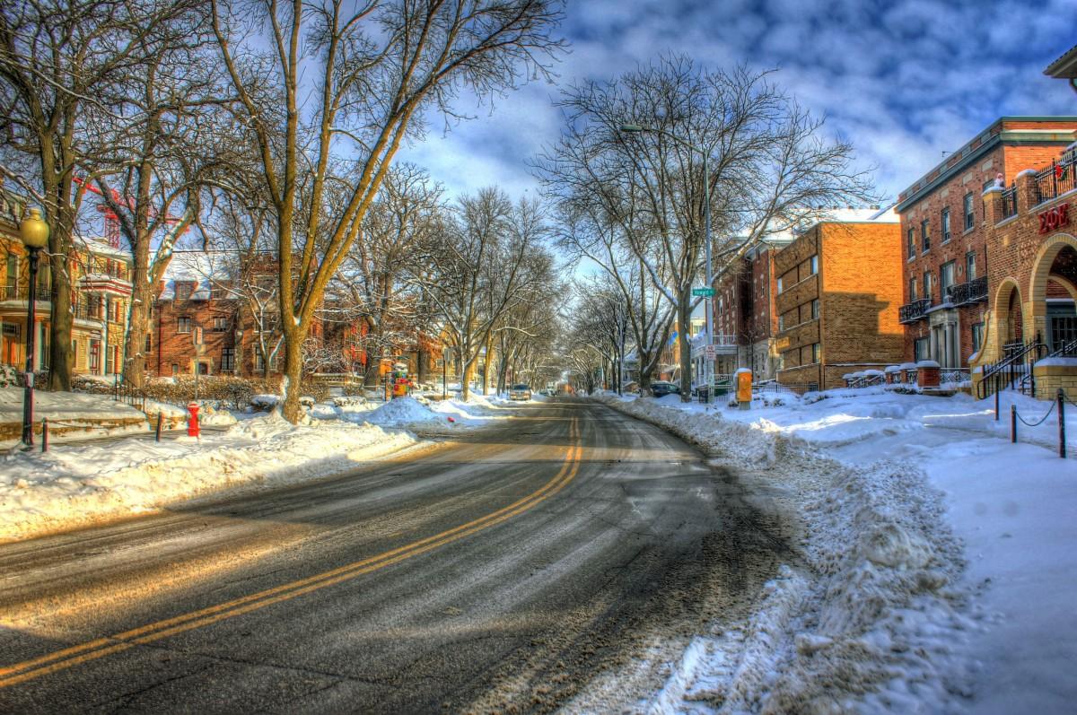 winter city lane with - photo #22