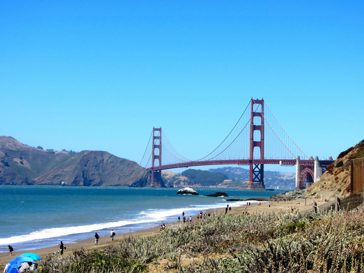 sea coast bridge vacation golden gate bridge san francisco golden bay landmark suspension reservoir california pacific ocean cable stayed bridge nonbuilding structure