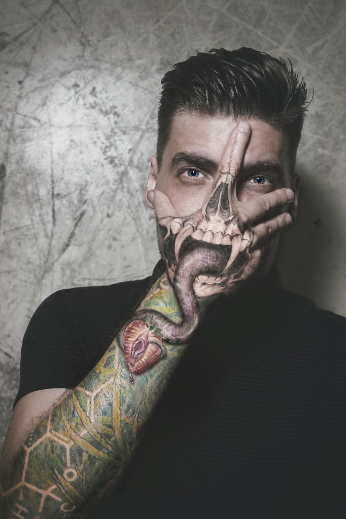 Tattoo Photography: Free Images : Hand, Purple, Pot, Photo, Portrait, Green