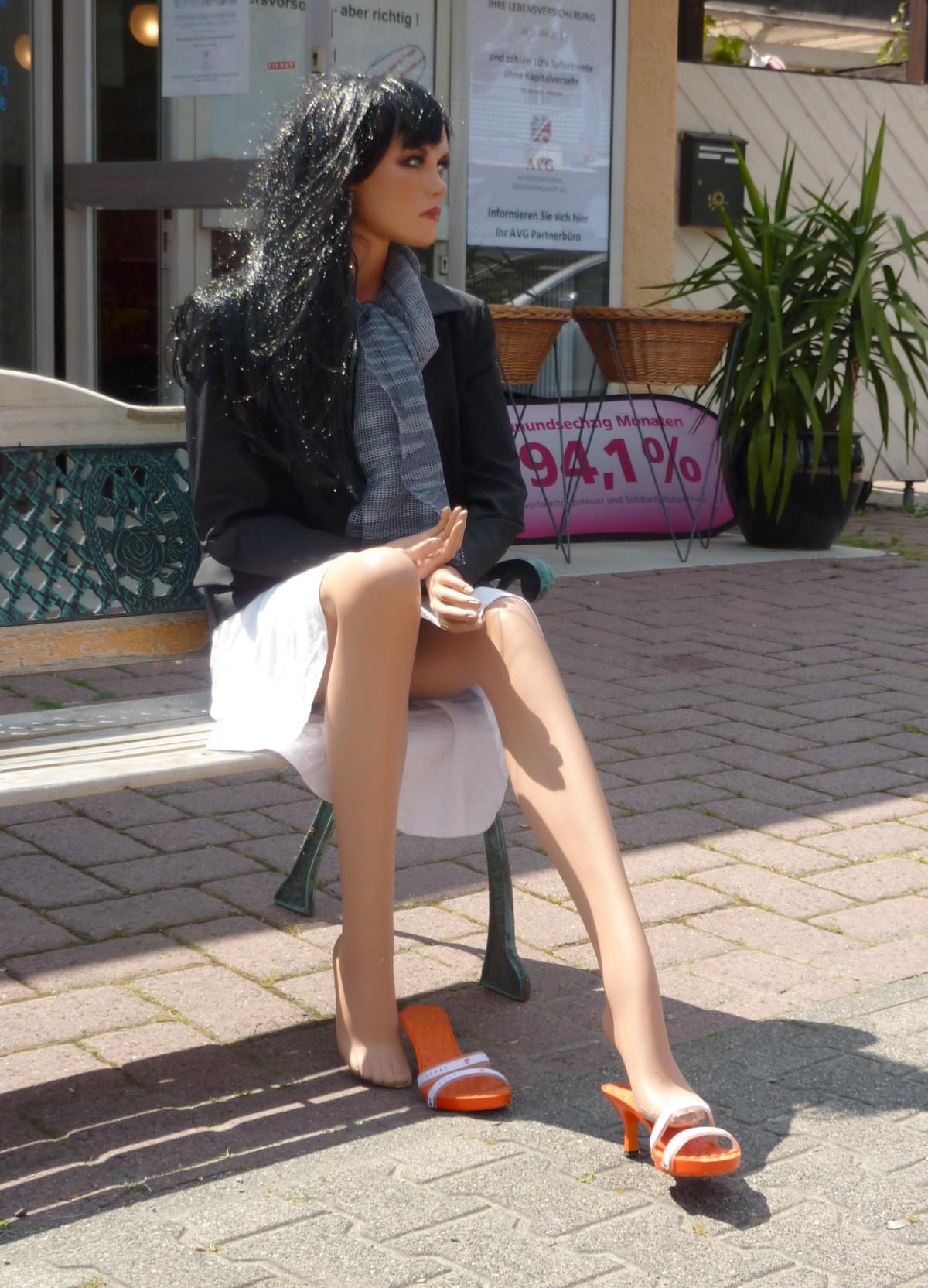 Free Images Shoe Woman Bench Leg Pattern Sitting