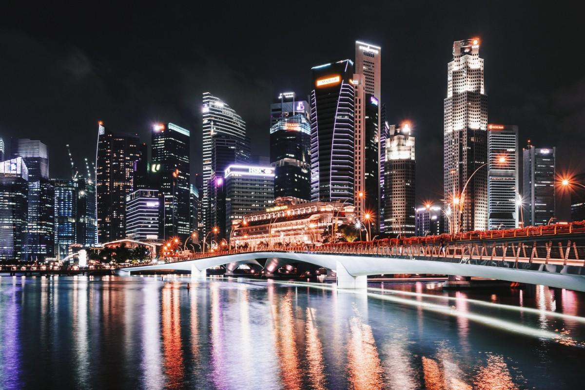 Картинки мегаполиса ночью, пожеланиями хорошей